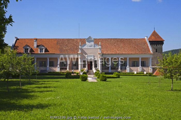 Romania, Transylvania, Malancrav. The Apafi Manor, once a hunting lodge of the noble family Apafi, rulers of Transylvania in the 17th century.