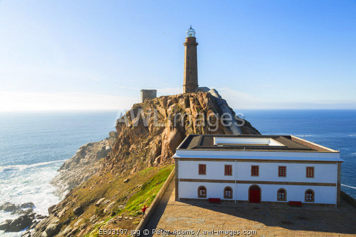 Cape Vilan Lighthouse, Costa Morte, La Coruna Province, Galicia, Spain