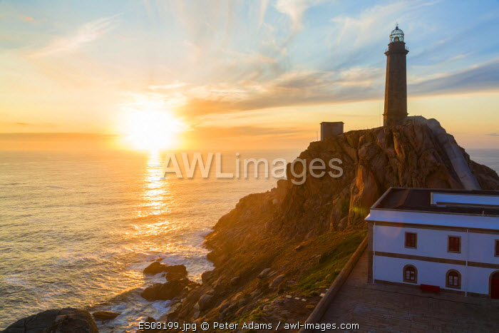Cape Vilan Lighthouse, Costa Morte, La Coruna Province, Galicia, Spain