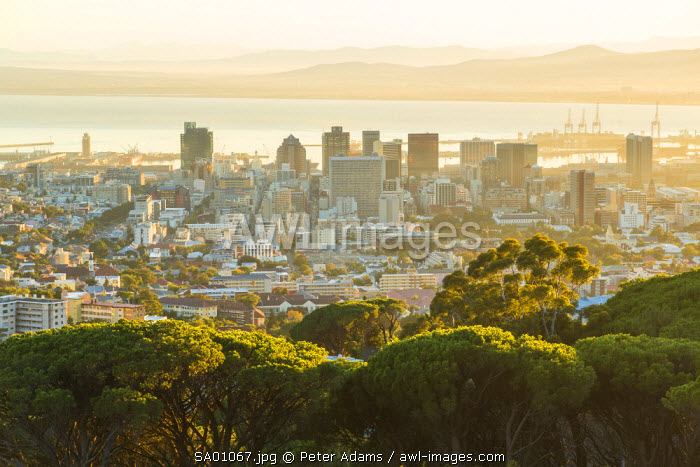 View over Cape Town & Financial District, Western Cape, South Africa