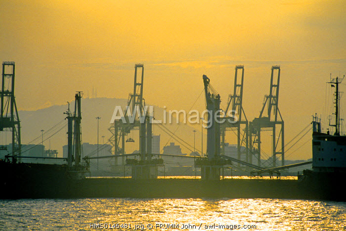 Malaysia, Penang State, Penang Island, Georgetown, the harbour cranes