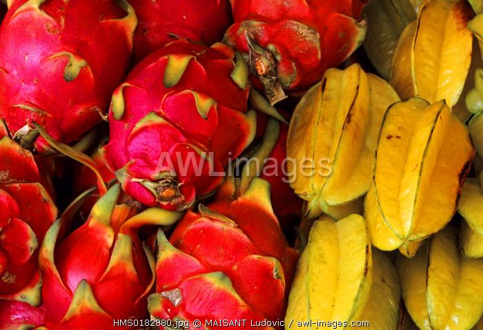 Malaysia, Dragon Fruits and Carambolas