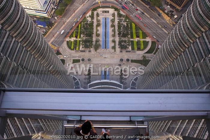 Malaysia, Kuala Lumpur, view from the Petronas Twin Towers gallery