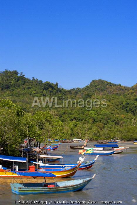 Malaysia, Kedah state, Andaman Sea, Langkawi island, Peranak, a fishermen village