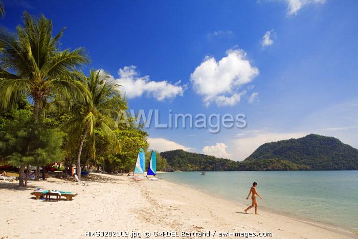Malaysia, Kedah state, Andaman Sea, Langkawi island, Westin Hotel beach, near Kuah