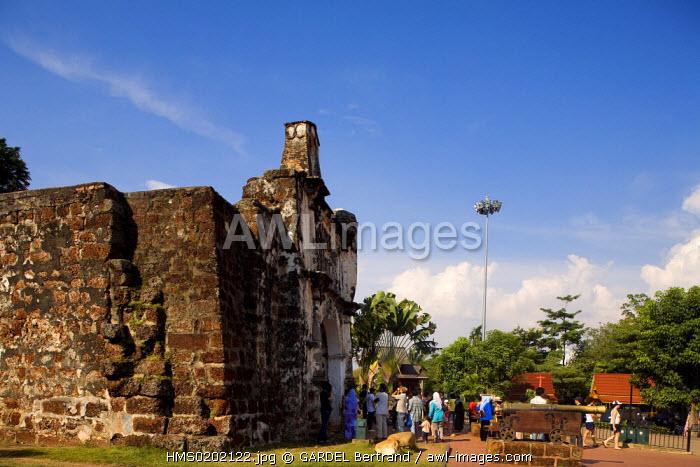 Malaysia, Malacca state, Malacca, historical center, A-Famosa fortress gate