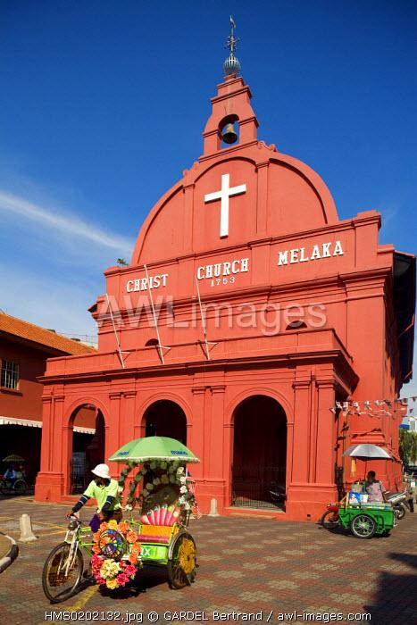 Malaysia, Malacca state, Malacca, historical center, Christ Church