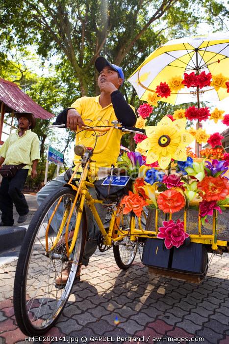 Malaysia, Malacca state, Malacca, historical center, trishaws