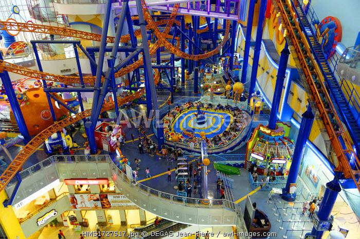 Malaysia, Kuala Lumpur, Berjaya Times Square shopping mall, games in an amusement park