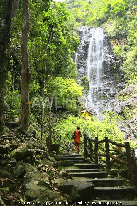 Malaysia, Kedah state, Andaman Sea, Langkawi Island, waterfall Temurun