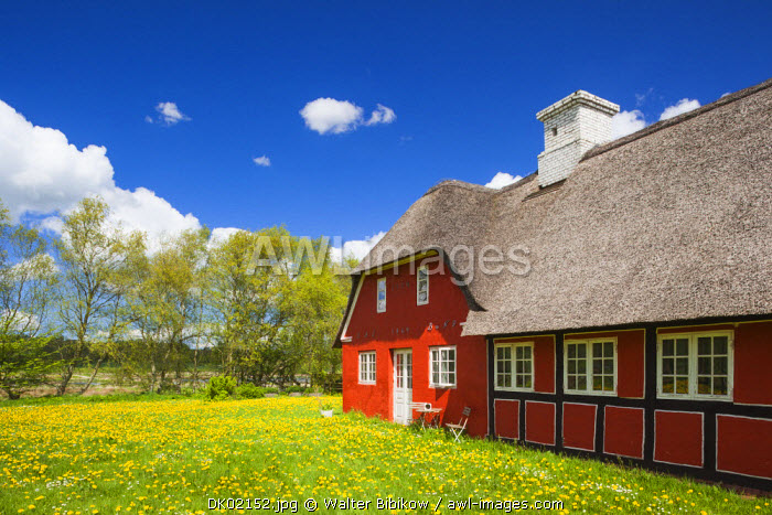 Denmark, Jutland, Hobro, farm buildings