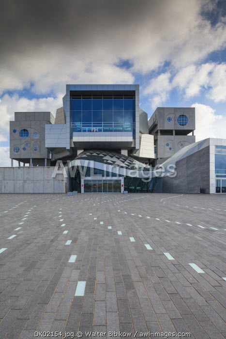 Denmark, Jutland, Aalborg, Musikhuset, performing arts center, exterior