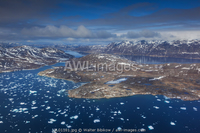 awl-images.com - Greenland / Greenland, Qaqortoq, aerial view of floating ice