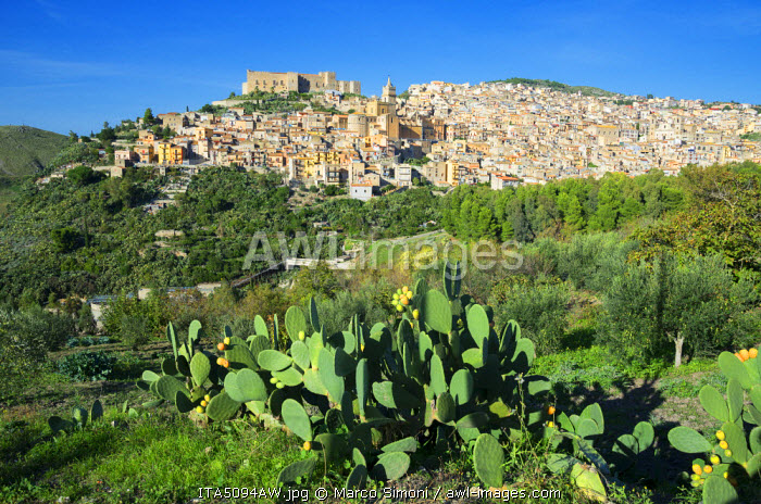 awl-images.com - Italy / Europe, Italy, Sicily, Caccamo Town