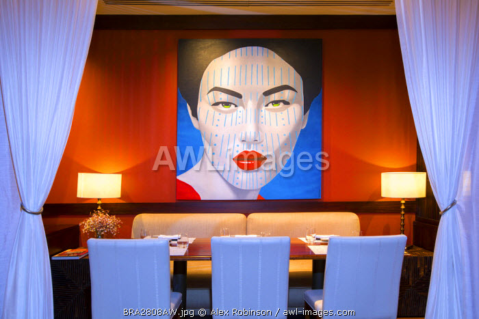 awl-images.com - Brazil / Rio de Janeiro, Brazil, Copacabana Palace hotel, Mee restaurant, Michelin-starred Asian restaurant (awarded 2015) in the hotel run by celebrity chef Ken Hom