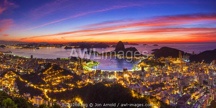 View over Botafogo Bay and the Sugar Loaf, Rio de Janeiro, Brazil