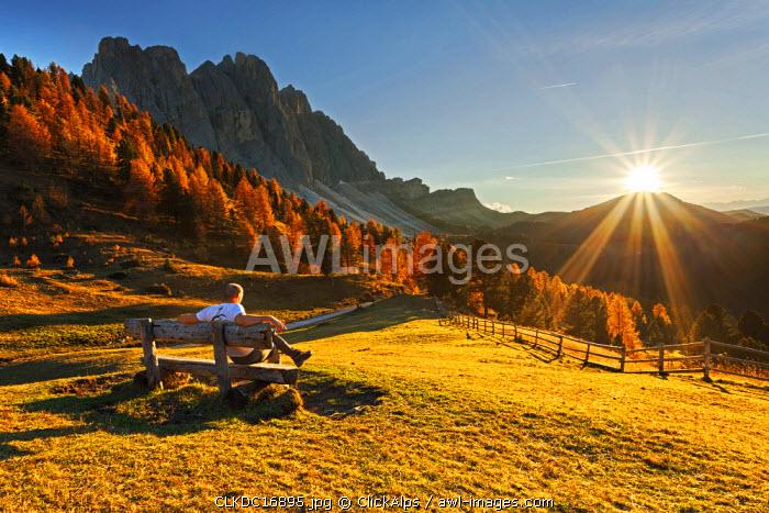 Odle/geisler, Dolomites, South Tyrol, Funes Valley/Villnoss, Bolzano, South Tyrol, Italy.