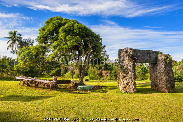 awl-images.com - Tonga / Ha'amonga 'a Maui (Burden of Maui), stone trilithon built in the 13th century, Tongatapu, Tonga, South Pacific
