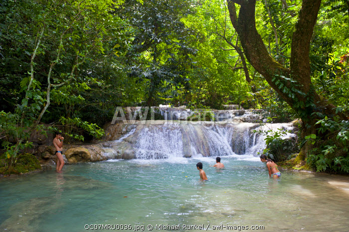 Beautiful Mele-Maat cascades in Port Vila, Efate Island, Vanuatu, South Pacific