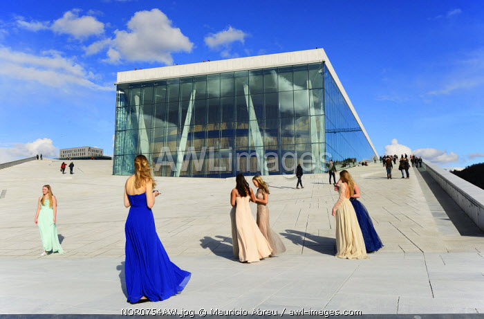 The Opera House, Norwegian National Opera and Ballet, by Snohetta architects in Bjorvika district. Oslo, Norway