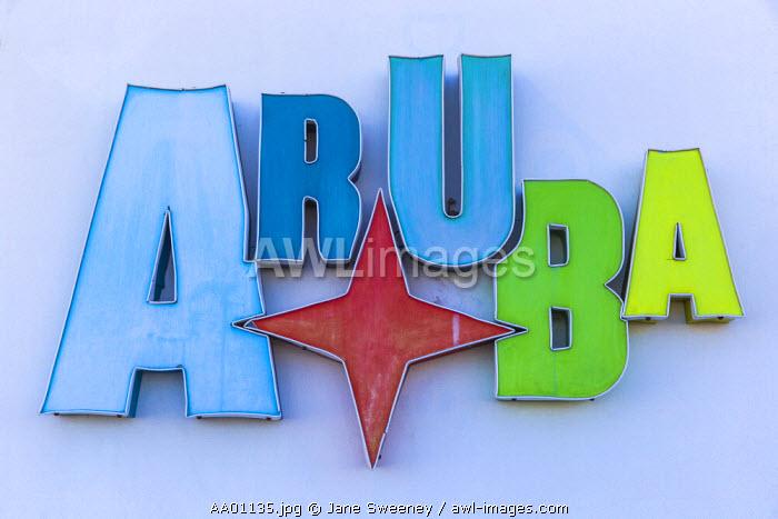 Caribbean, Netherland Antilles, Aruba, Aruba sign