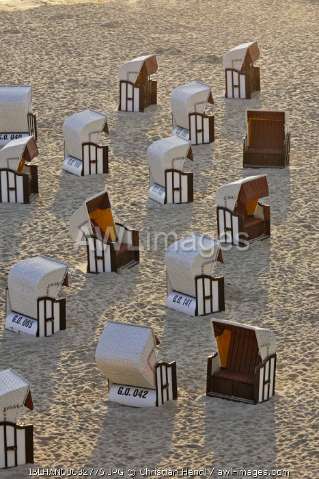 awl-images.com - Germany / Beach chairs in the early morning, Sellin, beach resort town, Ruegen, Germany