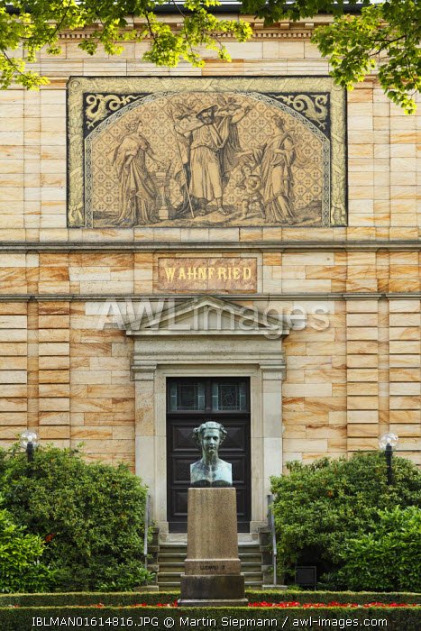 awl-images.com - Germany / Haus Wahnfried villa, Richard Wagner Museum, Bayreuth, Upper Franconia, Franconia, Bavaria, Germany