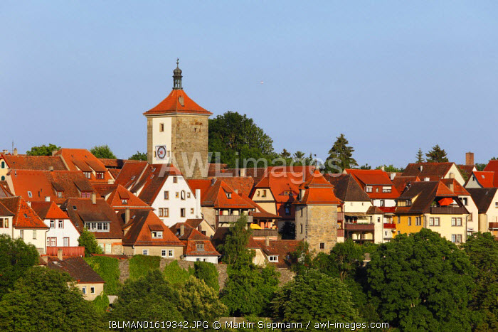 awl-images.com - Germany / Siebersturm tower, Rothenburg ob der Tauber, Romantic Road, Middle Franconia, Franconia, Bavaria, Germany
