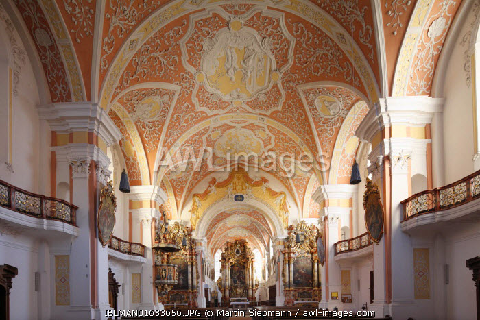 awl-images.com - Germany / Church of the Annunciation, Rococo-style, Jesuit church, Mindelheim, Unterallgaeu district, Allgaeu region, Swabia, Bavaria, Germany