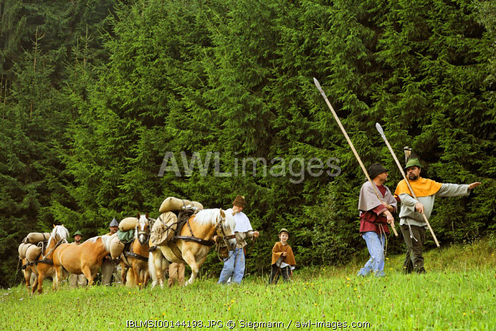 awl-images.com - Germany / Historical Saeumer procession, Grafenau, Bavarian Forest, Lower Bavaria, Germany