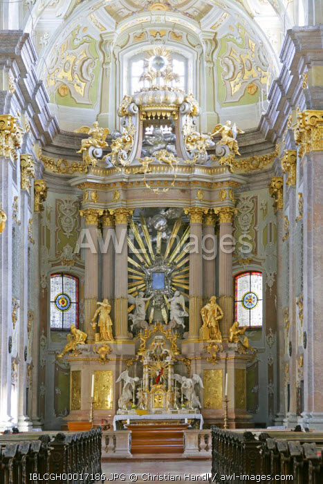 awl-images.com - Austria / The altar built by Melchior Hefele baroque pilgrimage church on the Sonntagsberg designed and planned by Jakob Prandtauer und Joseph Munggenast Lower Austria