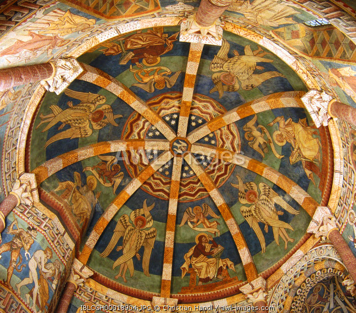 awl-images.com - Austria / Cupola with gotic frescos in the charnel house in Hartberg Styria Austria