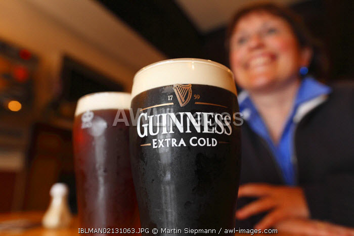 awl-images.com - Northern Ireland / Pint of Guinness, stout beer, Mary McBride's Pub, Cushendun, County Antrim, Northern Ireland, United Kingdom