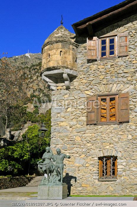 Casa de la Vall, the seat of the Parliament of Andorra, the smallest European Parliament, Barri Antic, Andorra La Vella, Andorra