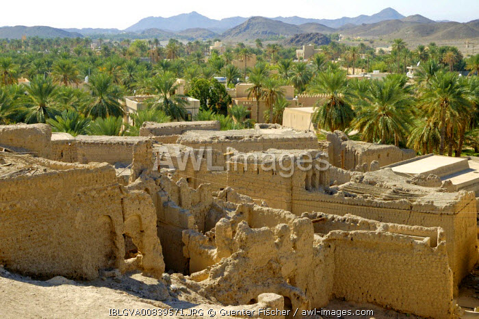 awl-images.com - Oman / Eroding loam constructions in Bahla Fort, Oman
