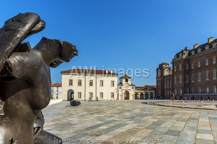 Europe, Italy, Piedmont. The court of honor of the Venaria Reale.