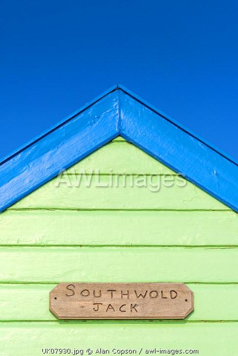 UK, England, Suffolk, Southwold, Promenade, Beach Huts