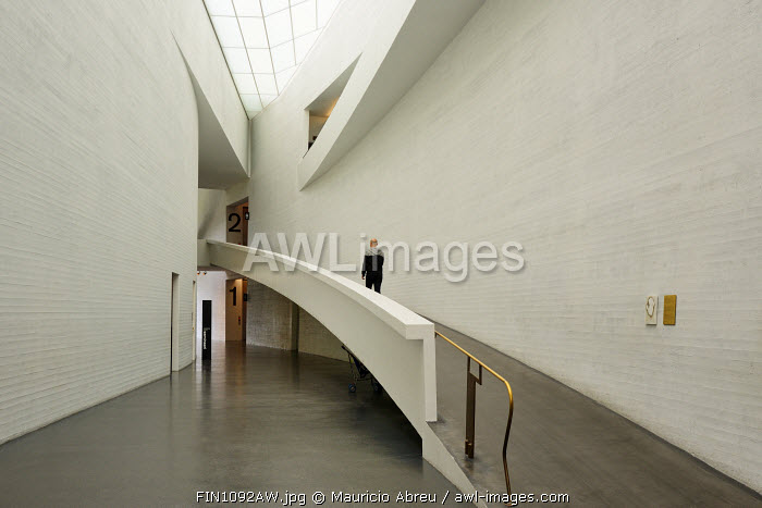 Atrium of Kiasma, the Museum of Contemporary Art. Helsinki, Finland