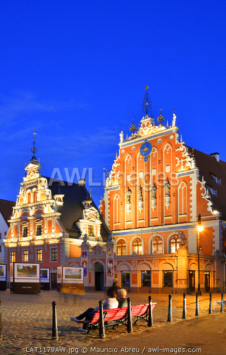 House of the Brotherhood of the Blackheads dating back to 1334, a Unesco World Heritage Site. Riga, Latvia