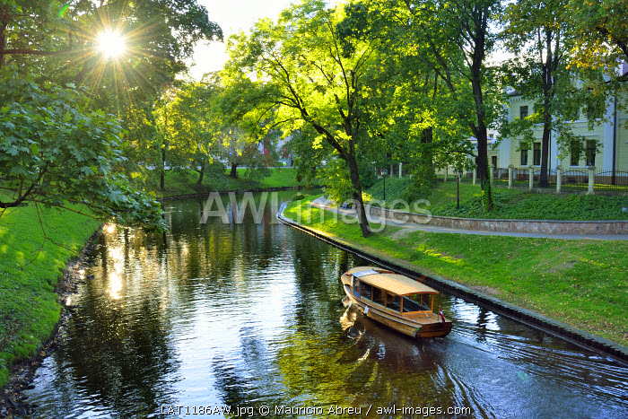 Bastion Hill Park (Bastejkalns Park) is a beautiful and quiet park along a channel of the Daugava river, in the very center of Riga. Latvia