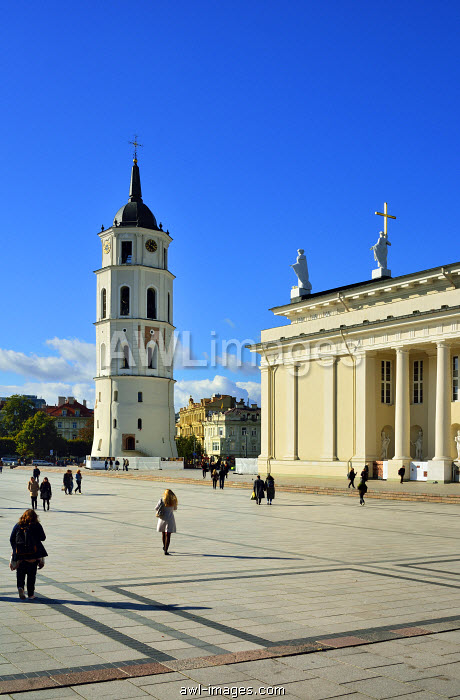 The Cathedral of St. Stanislav and St. Vladislav with the bell tower. It is the most important place of worship for Lithuania��s Catholics. A Unesco World Heritage Site, Vilnius. Lithuania