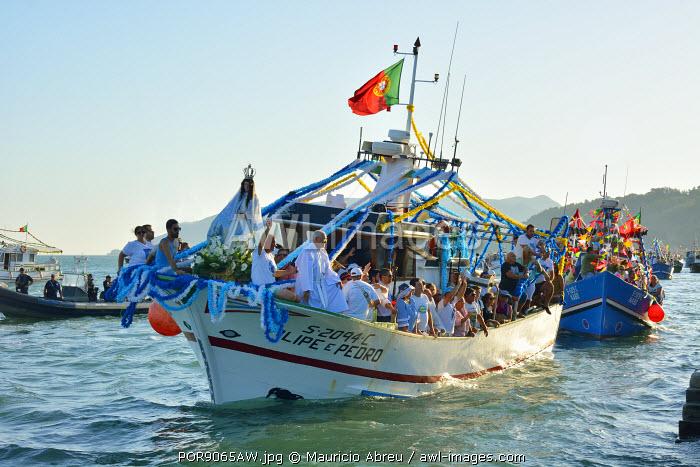 Fluvial procession dedicated to Nossa Senhora do Rosario de Troia. Setubal, Portugal