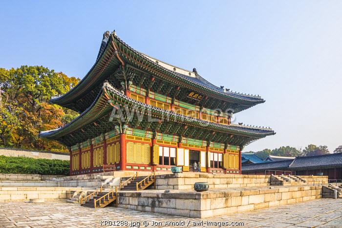 Injeongjeon (Throne Hall), Changdeokgung Palace, Seoul, South Korea