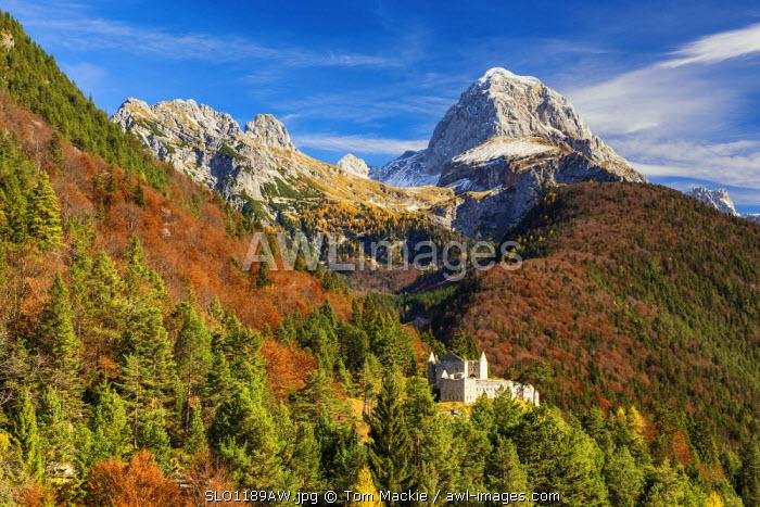 Mt. Mangart in Autumn, Triglav National Park, Slovenia, Europe