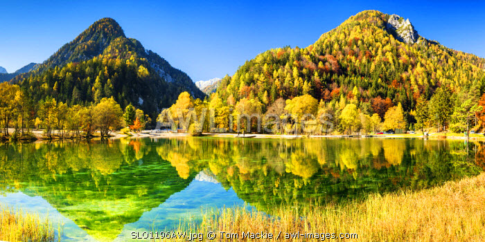 Jasna Lake in Autumn,  near Kranjska Gora, Slovenia, Europe