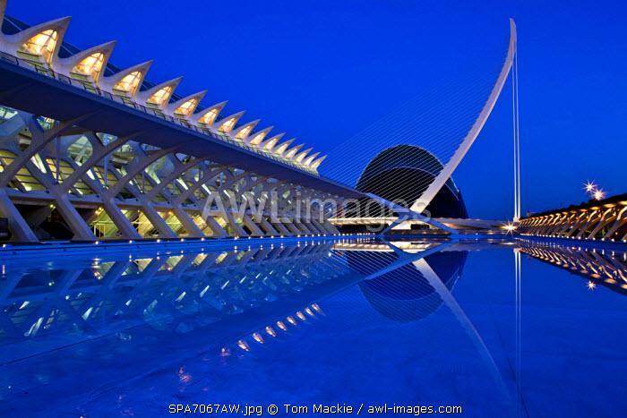 City of Arts & Sciences at Night, Valencia, Spain