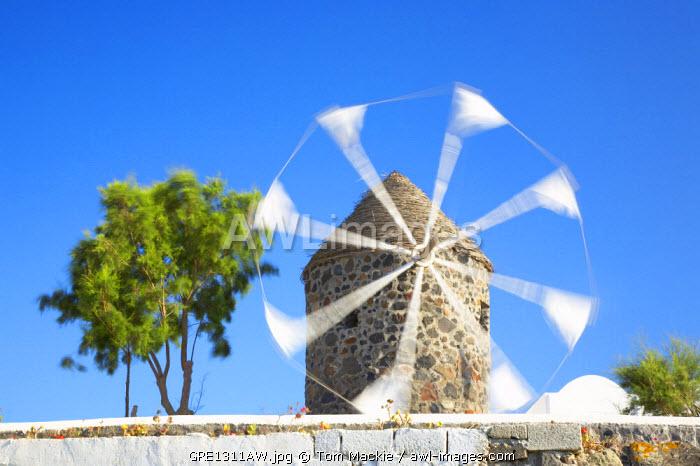 Traditional Windmill, Oia, Santorini, Greece