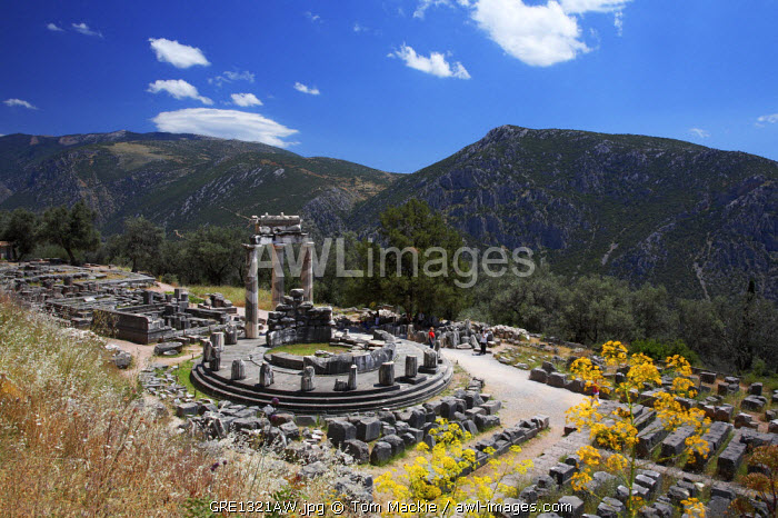 View over Temple of Venus, Delphi, Greece