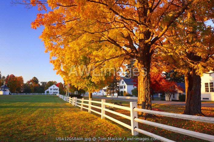Craftsbury Common in Autumn, Vermont, USA