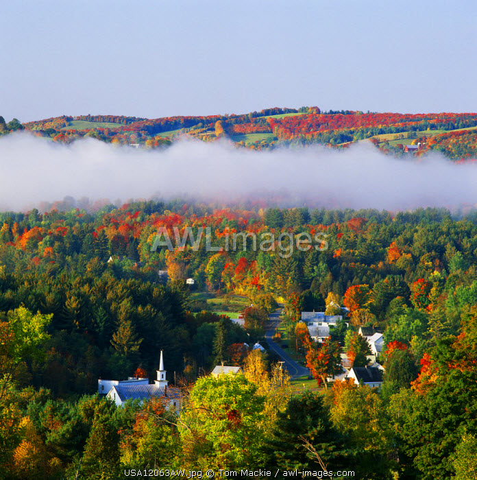 Low Cloud over West Barnet, Vermont, USA